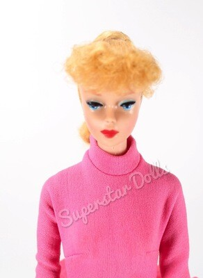 Vintage 1960's #5 Blonde Ponytail Dressed Barbie Doll