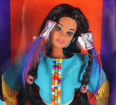 1993 2nd Edition Native American Barbie Doll from the Dolls of the World Collection