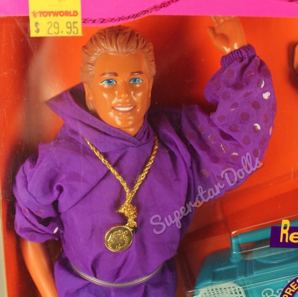 1991 Rappin' Rockin' Ken Barbie Doll
