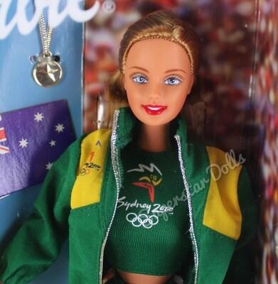 1999 Australian Sydney 2000 Olympic Fan Barbie Doll