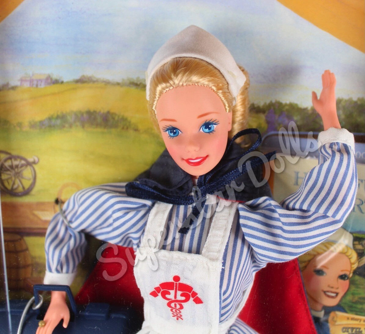 1995 Collector Edition: Civil War Nurse Barbie Doll from the American Stories Collection