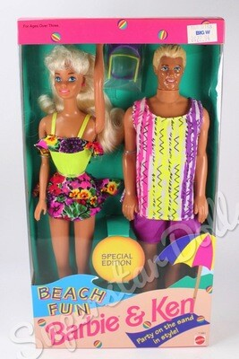 1993 Special Edition: Beach Fun Barbie & Ken Doll Gift-set