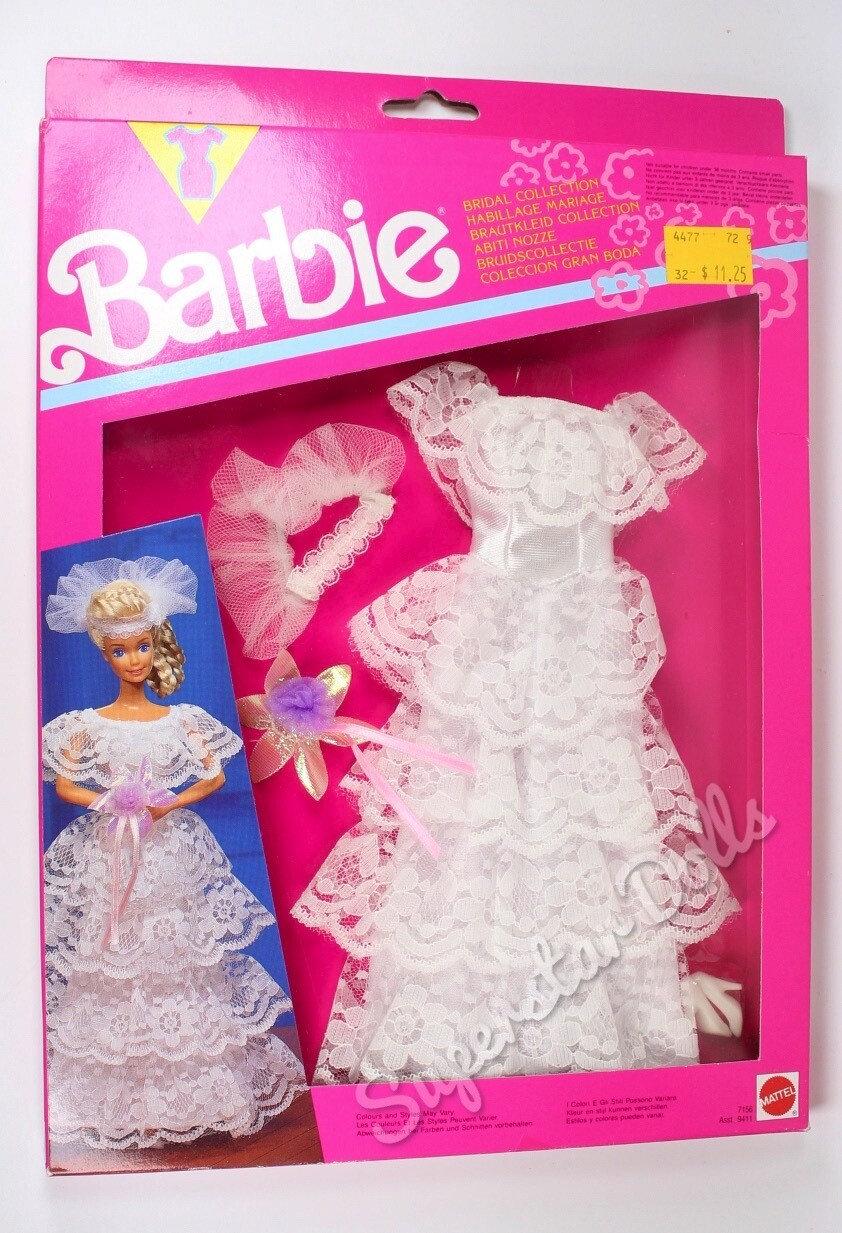 1991 Bridal Collection Barbie Doll Fashion Pack #7156