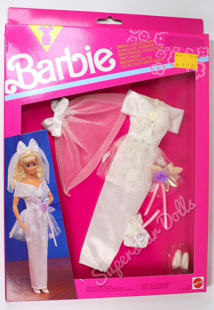 1991 Bridal Collection Barbie Doll Fashion Pack #7155