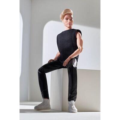 2021 Black Label: Barbie Looks Ken Doll (Blonde with Facial Hair)