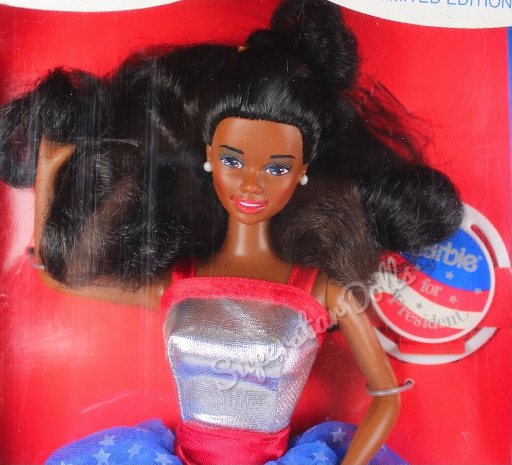 1991 Barbie for President Gift Set African American (AA) Doll