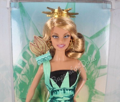 2008 Pink Label: Statue of Liberty Barbie Doll from the Dolls of the World Landmark Collection