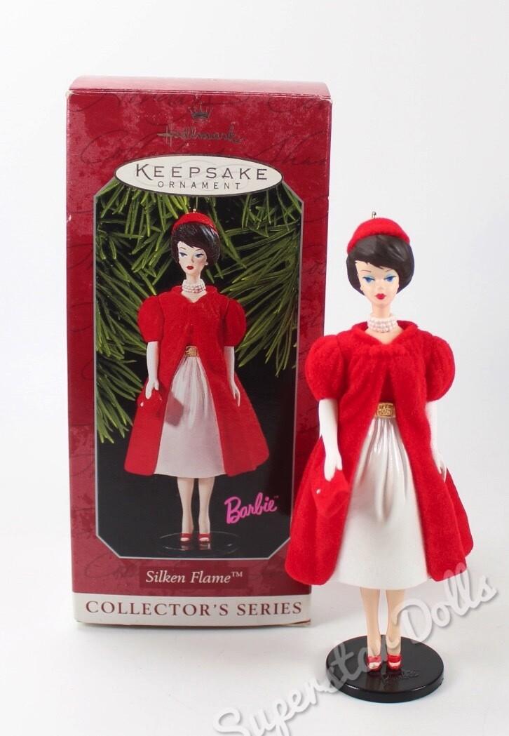 1998 Silken Flame Barbie DE-BOXED Hallmark Keepsake Ornament