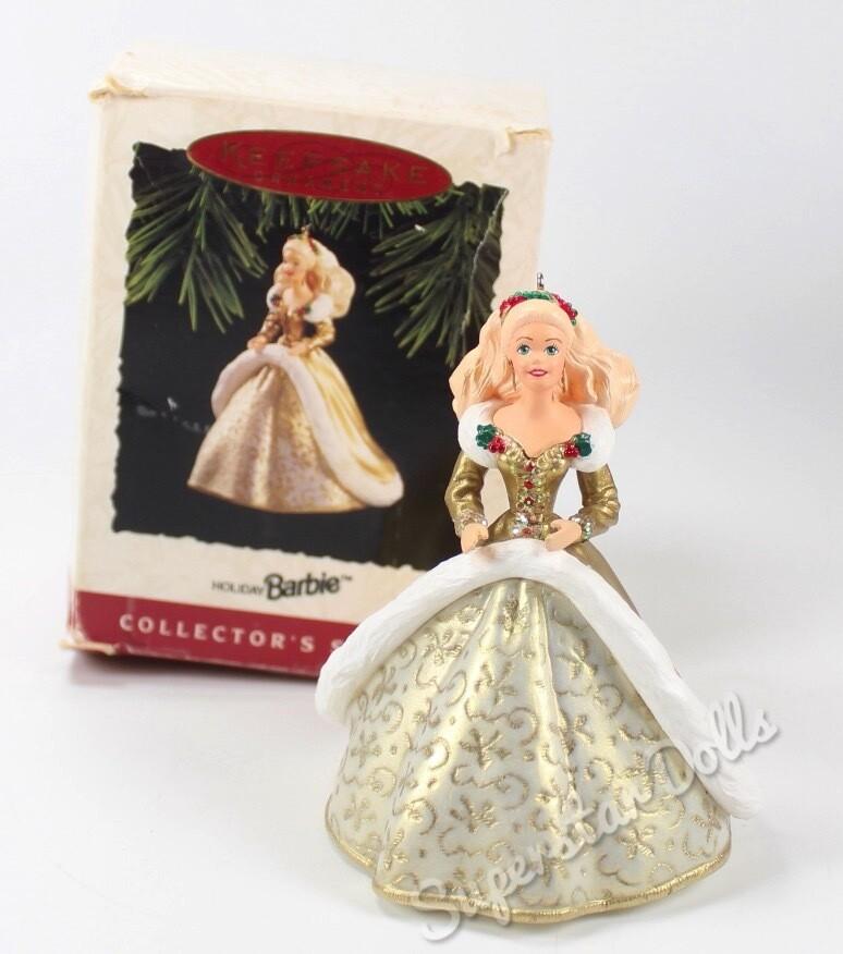 1994 Happy Holidays Barbie DE-BOXED Hallmark Keepsake Ornament
