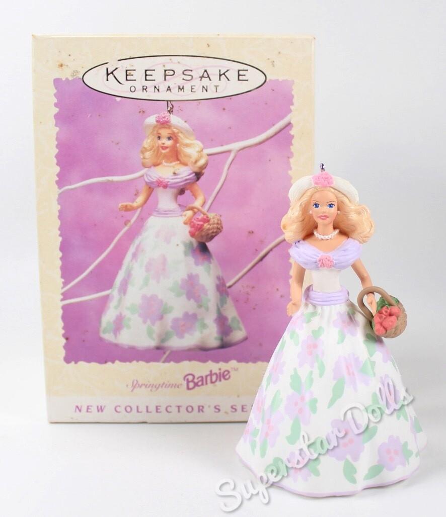 1995 Springtime Barbie DE-BOXED Hallmark Keepsake Ornament