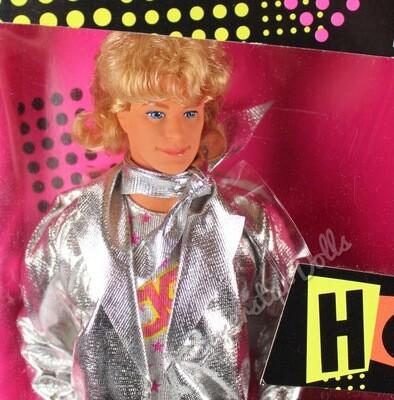 1986 Barbie & the Rockers Real Dancing Action Ken Barbie Doll
