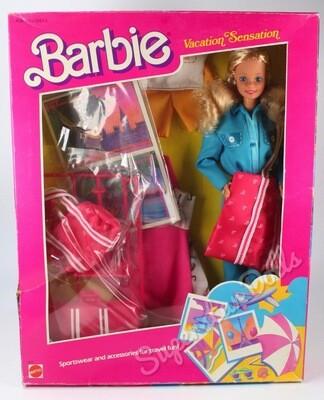 1986 Vacation Sensation Barbie Doll Gift-set