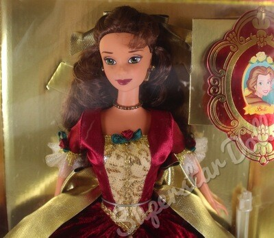 1997 Disney Special Edition: Beauty and the Beast Holiday Princess Belle Doll By Mattel