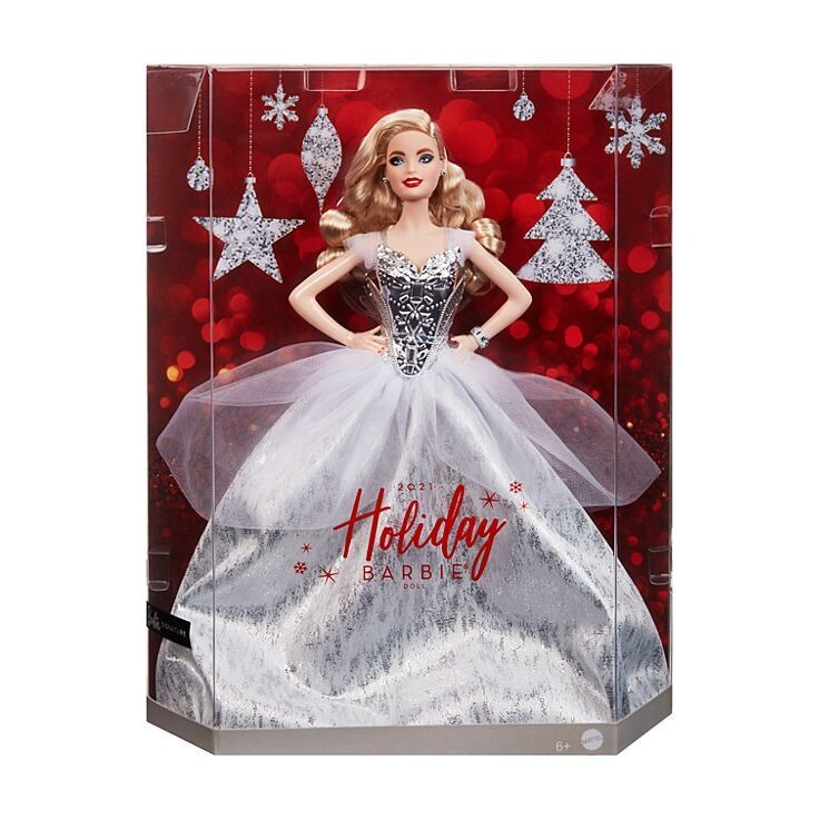 2021 Blonde Holiday Barbie Doll