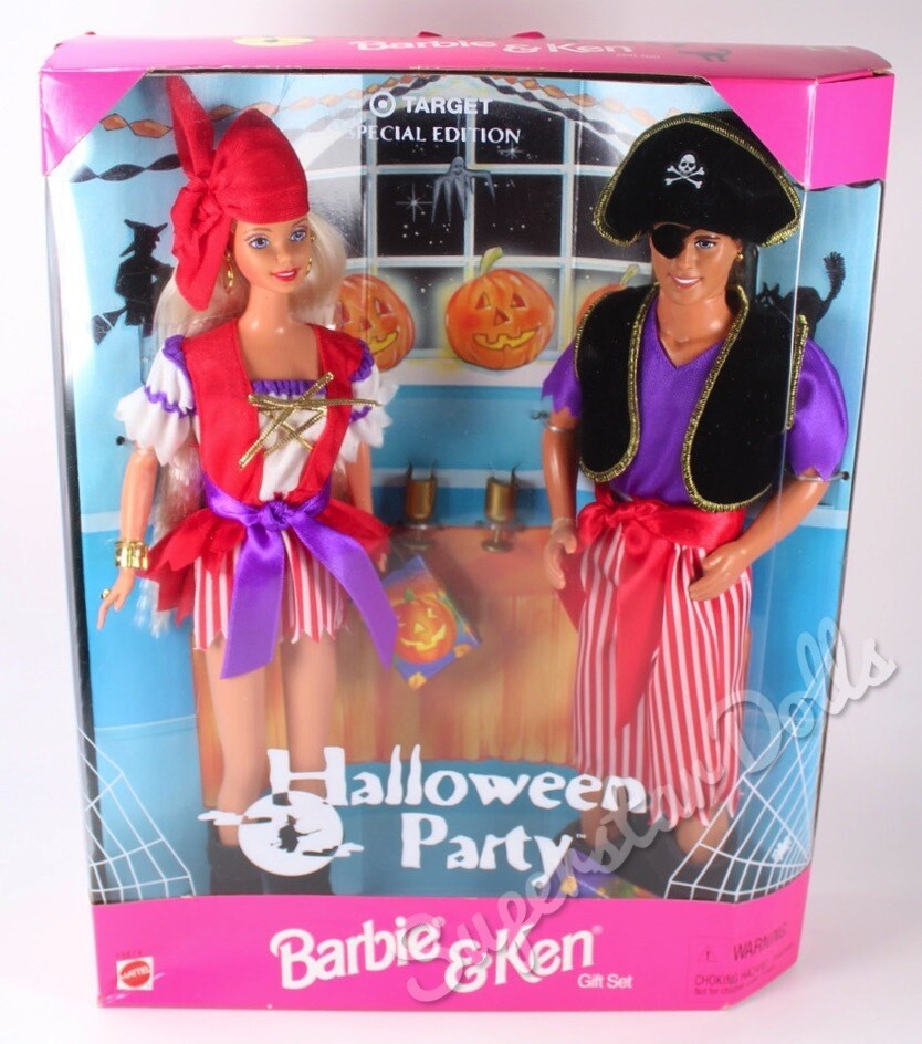 1998 Target Special Edition: Halloween Party Barbie & Ken Doll Gift Set