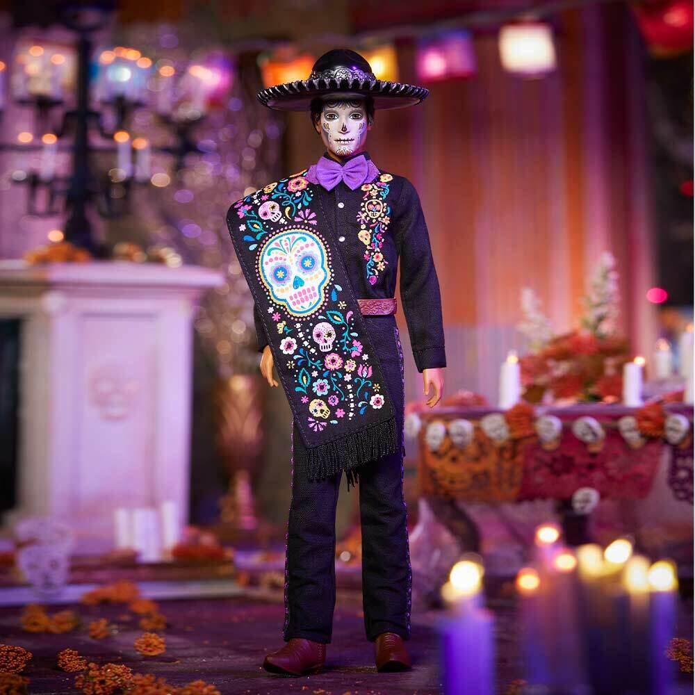 2021 Black Label: Dia De Muertos Ken Barbie Doll