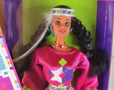 1994 Native American Barbie Doll from the Dolls of the World Collection