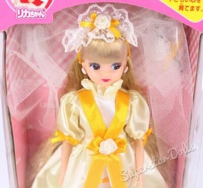 """Takara Tommy: Blonde Bridal/Wedding Licca Chan 9"""" Fashion Doll"""