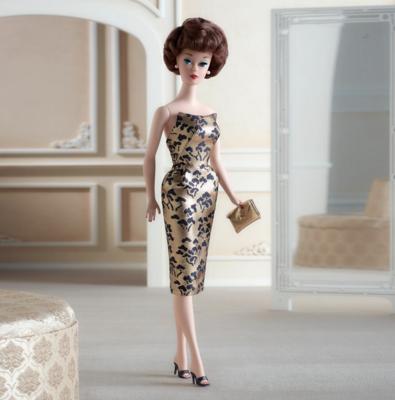 2021 Gold Label: 1961 Brownette Bubble Cut Reproduction Silkstone Barbie Doll PRE-ORDER