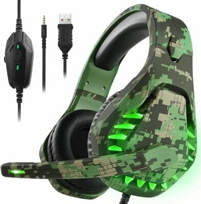 Gaming headset for PS4 Xbox One PC Headphones with Microphone Nintendo Switch Games Laptop PS3