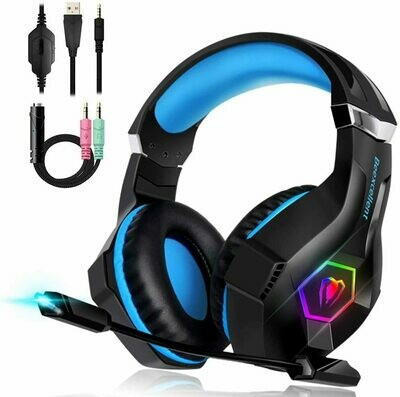 PS4 Headset excellent PC Gaming Headphone with Microphone 3.5mm Jack