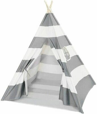 Kids Teepee Play Tent Children Large Cotton Canvas Indian