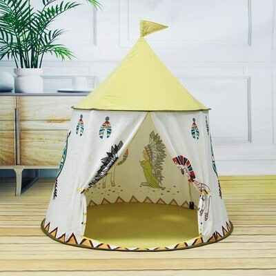 Play Tent Kids Teepee Tent for Kids Pop Up Foldable Playhouse