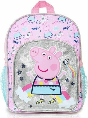 Peppa Pig Magical Unicorn Kids Backpack   Girls Pink