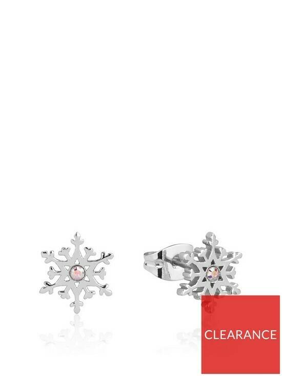 Disney Frozen II Crystal Snowflake Stud Earrings