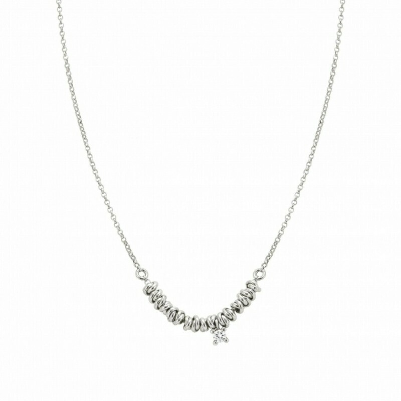 Necklace in Sterling Silver and CZ Stone