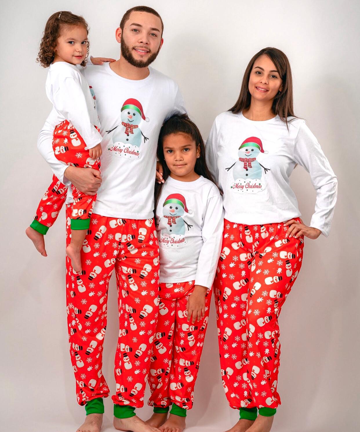 Matching Family Pajama Sets Snowman Print