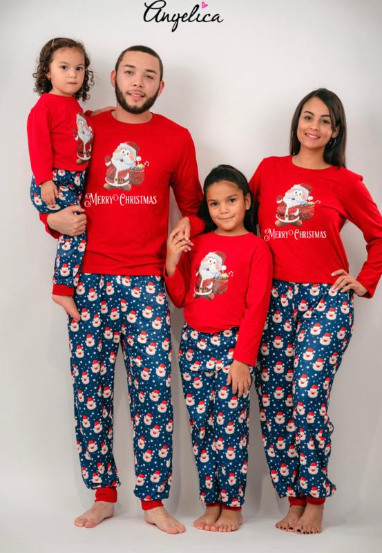 Matching Family Pajama Sets Santa Print