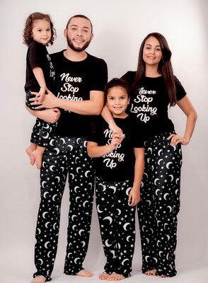 Matching Family Pajama Sets  Moons and Stars Print