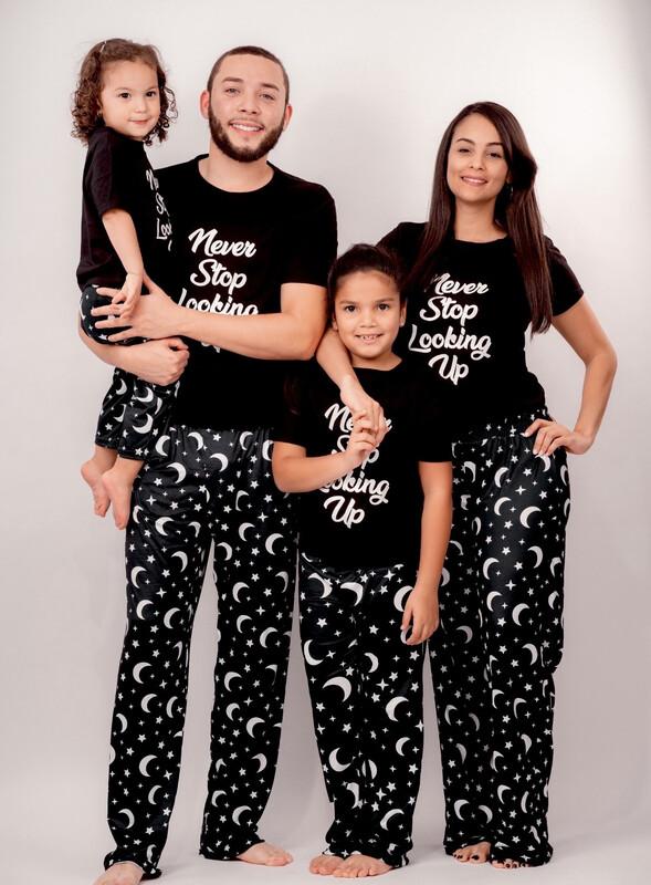 Matching Family Pajama Sets  Moons and Stars Print