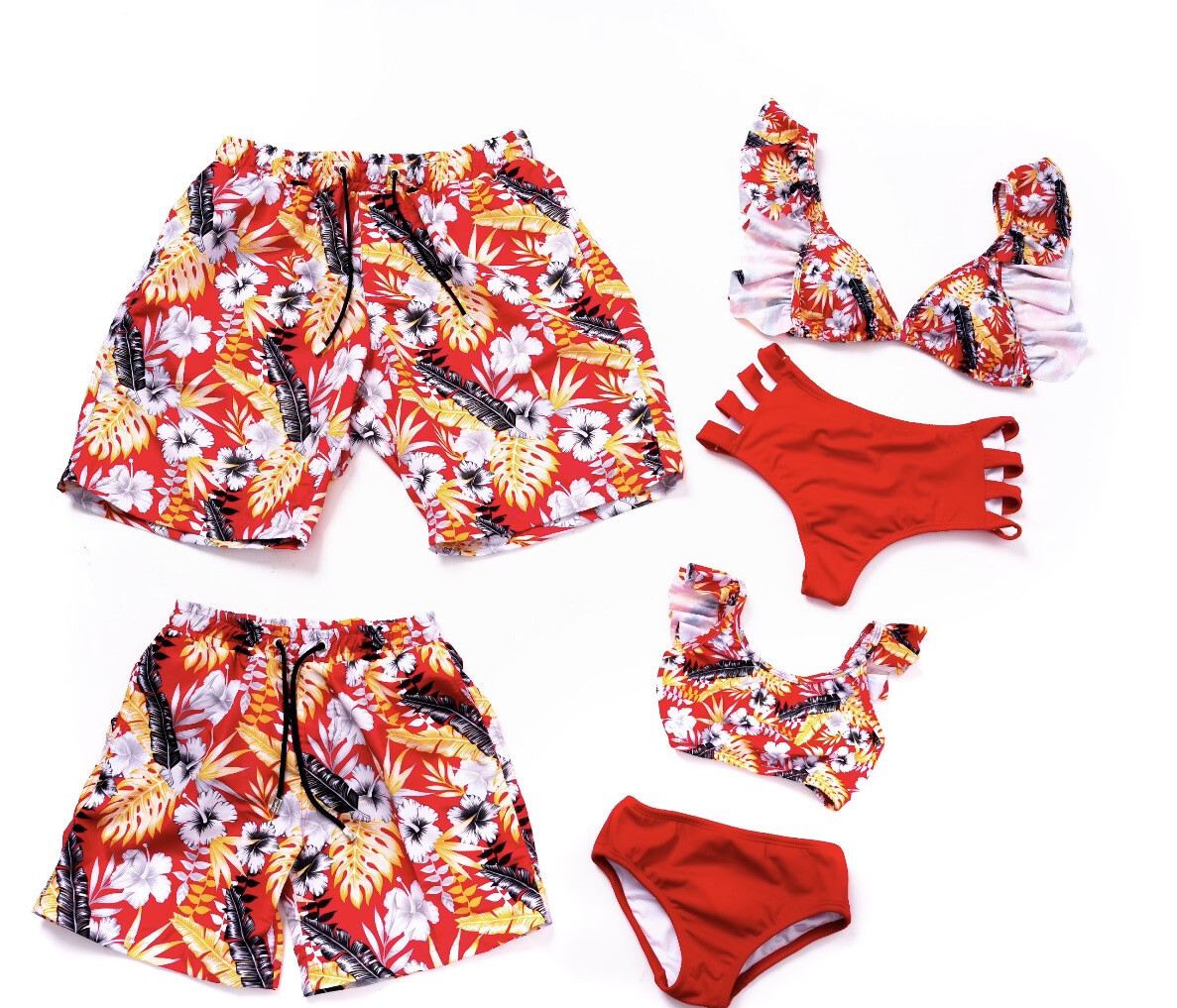 Tropical Red Print