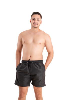 Plain Black Swim- Men
