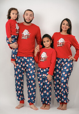 Matching Pj Santa