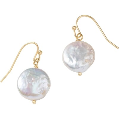 Delicate Pearl Drop Earrings