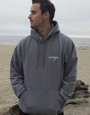 Men's Seascape Hoodie Sweatshirt/Heather Charcoal Grey