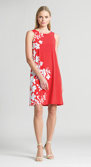 CSW Slvless Floral Swing Dress