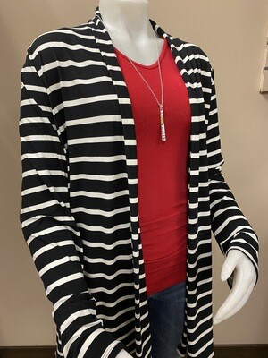 BR+ Striped Elbow Patch Cardi