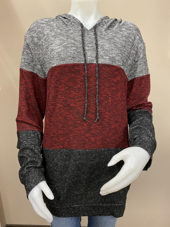 BE Stg Brushed Color Blk Hooded Pullover