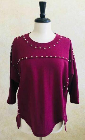 BB Cotton Fleece Tunic w/Studs