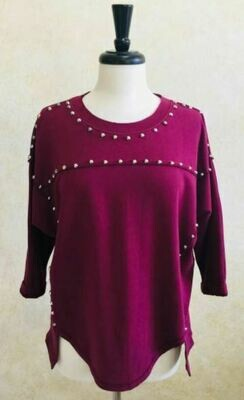 BB Cotton Fleece Tunic w/Studs