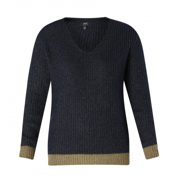 Yest Soft V Neck Speckle Sweater