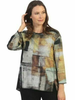 JJ Misty Printed Brush Tunic