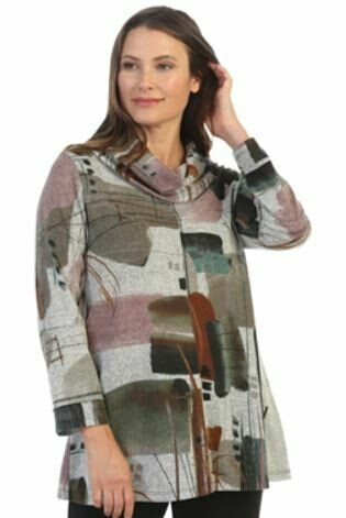 J&J Plus Emer Brush Cowl Tunic
