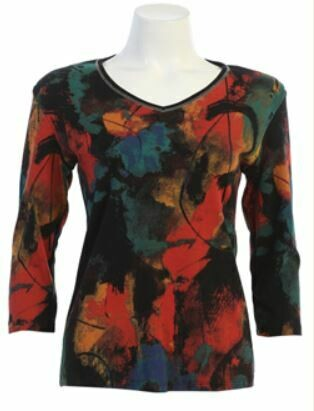 J&J Plus Genesis V Neck Top