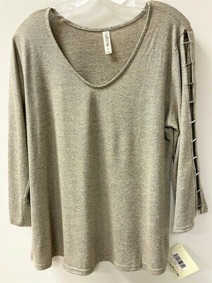 Cube V Neck Open Slv Top