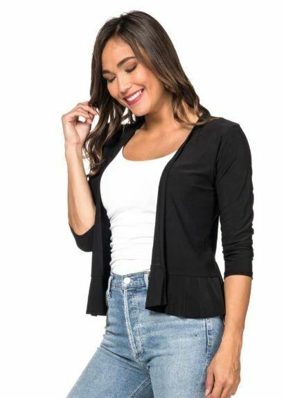 LT Black Ruffle Jacket